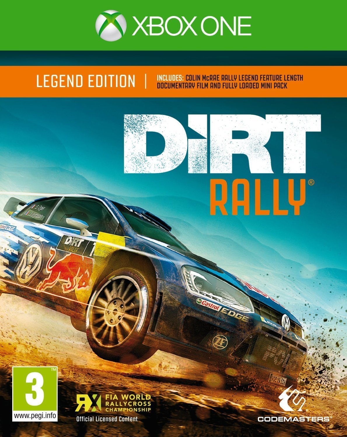 DiRT Rally-Xbox One By:Codemasters Eur:37,38 Ден1:3199